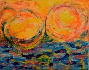 Energy, Mixed Media by Passle Helminski, 11in x 14in, $100 (September 2021)