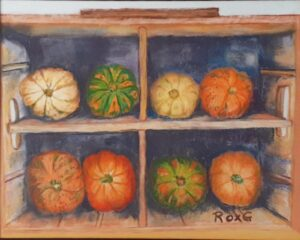 Fall Display, Pastel by Roxana Genovese, 8in x 10in, $300 (September 2021)