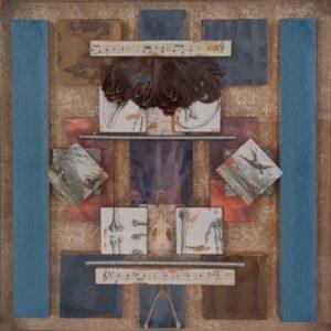 Flesh & Bone, Collage by Kerry McAleer-Keele, 14.5in x 14.5in, $475r (September 2021)
