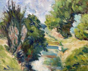 Hidden Bridge, Oil by Kate Dervin, 16in x 20in, NFS (September 2021)