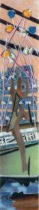 On Ice, Mixed Media Collage by Teresa Blatt, 10.5in x 2in, $125 (September 2021)