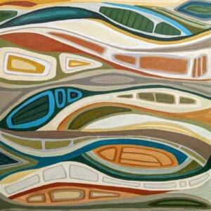 Undercurrents, Acrylic on Canvas by Ellyn Wenzler, 24in x 24in, $480 (September 2021)