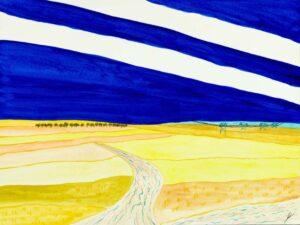 Western Plains, North Dakota, Watercolor by Bro Halff, 12in x 16in, $900  (September 2021)