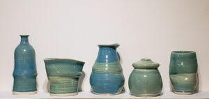 5 Vases, Ceramic by Joan Limbrick, Set of 5, $200 (October 2021)