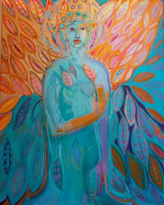 Angel of the Morning, Oil on Canvas by Joan Limbrick, 30in x 24in, $1500 (October 2021)
