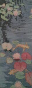 Lily Pond #5, mixed media by Charlotte Burrill  (September 2021 CBTC)
