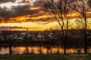 Chatham River Sunset, digital print on canvas by Chris McClintock  (September 2021 CBTC)