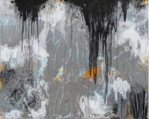 Dark Sea, Acrylic and Mixed Media by Bob Worthy, 24in x 30in, $500 (October 2021)
