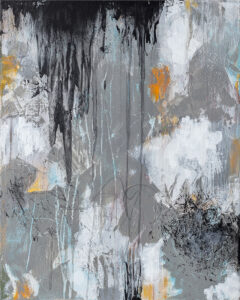 Dark Water, Acrylic and Mixed Media by Bob Worthy, 30in x24in, $500 (October 2021)