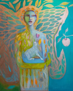 Earth Angel, OIl on Canvas by Joan Limbrick, 30in x 24in, $2000 (October 2021)
