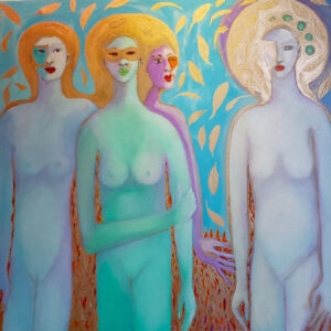 Faith is the Key, Oil on Canvas by Joan Limbrick, 36in x 36in, $3200 (October 2021)