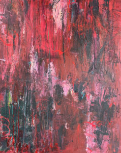 Kicking and Screaming, Acrylic on Canvas by Tarver Harris, 30in x 24in, $900 (October 2021)