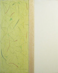 Picturing Three Areas of Spatiality #3, Assemblage by John Nichols, 36in x 24in, $950 (October 2021)