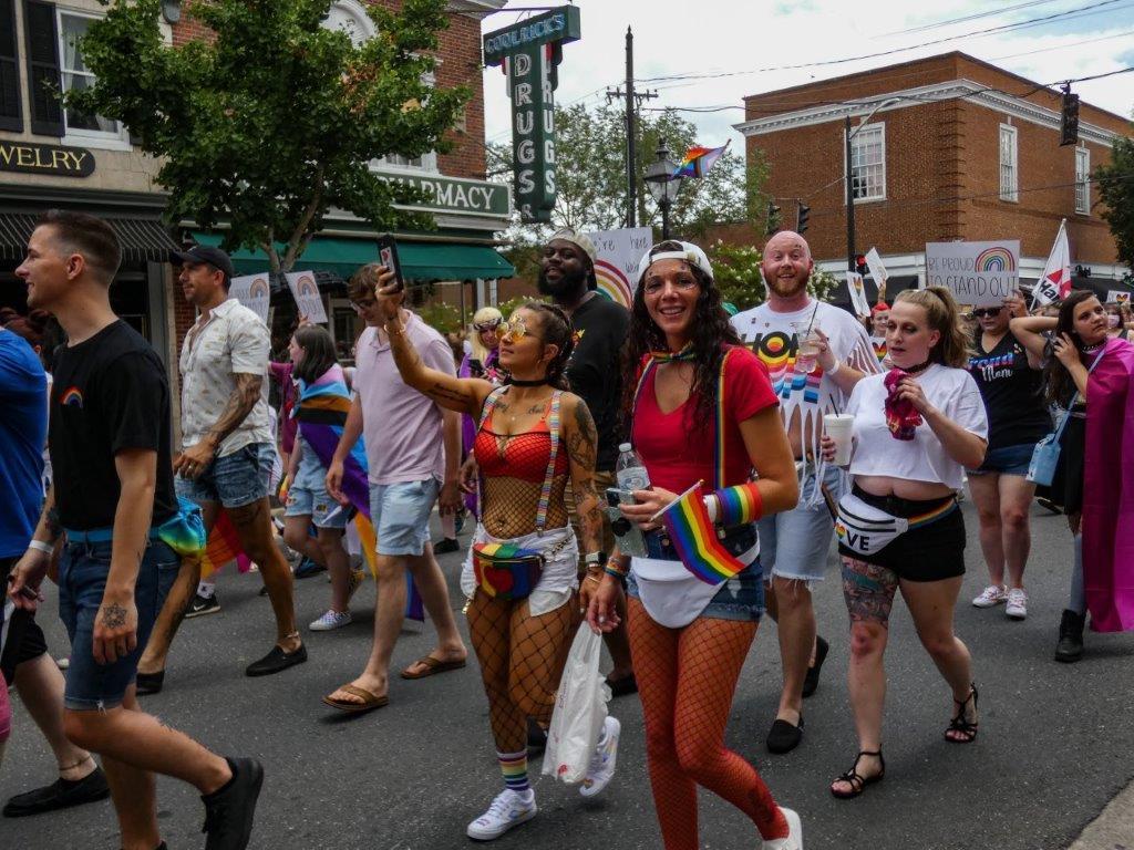 Fredericksburg Pride Parade, photography by Sue Henderson (MG: October 2021)