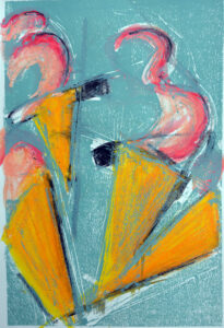 Twisted Creme III, Monotype by David Lovegrove, 12in x 8in, $200 (October 2021)