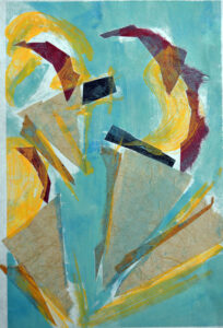 Twisted Creme IV, Monotype with chine colle' by David Lovegrove, 12in x 8in, $200 (October 2021)