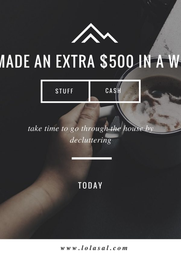 How I Made An Extra $500 In One Week With 'Stuff' Around The House