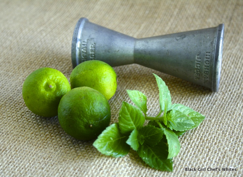 Blue Spice Basil and Key Lime Mojito | Black Girl Chef's Whites
