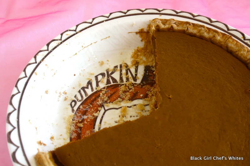 Pumpkin Pie in Heirloom Pie Plate   Black Girl Chef's Whites