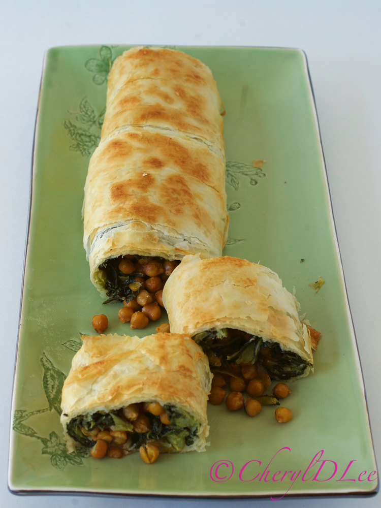 Mustard Green and Smoky Chickpea Strudel