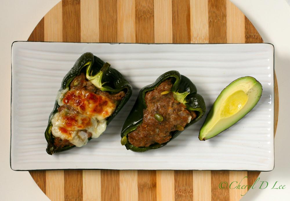 Spicy Turkey Stuffed Poblano Peppers #tryturkey
