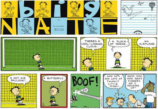 An example of Big Nate's Sunday strip.