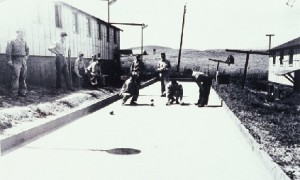 Bocce field built by Italian POWs in Benicia Arsenal