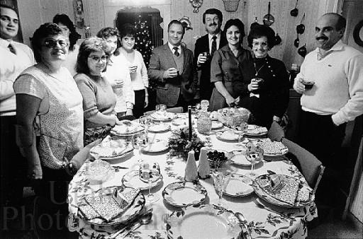 An Italian American family ready for Christmas dinner...