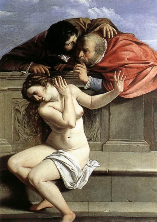 Susanna and the Elders, 1610, Artemisia Gentileschi.