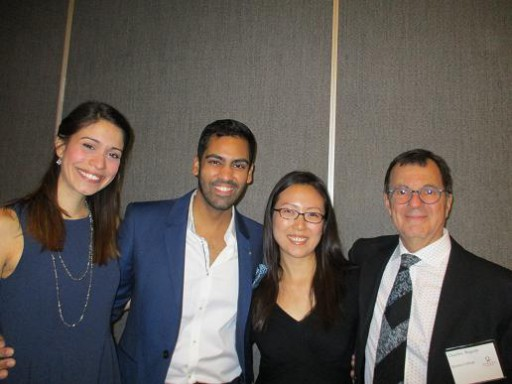 From the left: Candace Lynn Matthews, Sean Moonsammy, Professro Youn Ju Namkoong and Professor Charley Repole