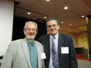 From the left, the author with Professor Michael Krassner