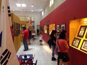 La exposición permanente del museo.