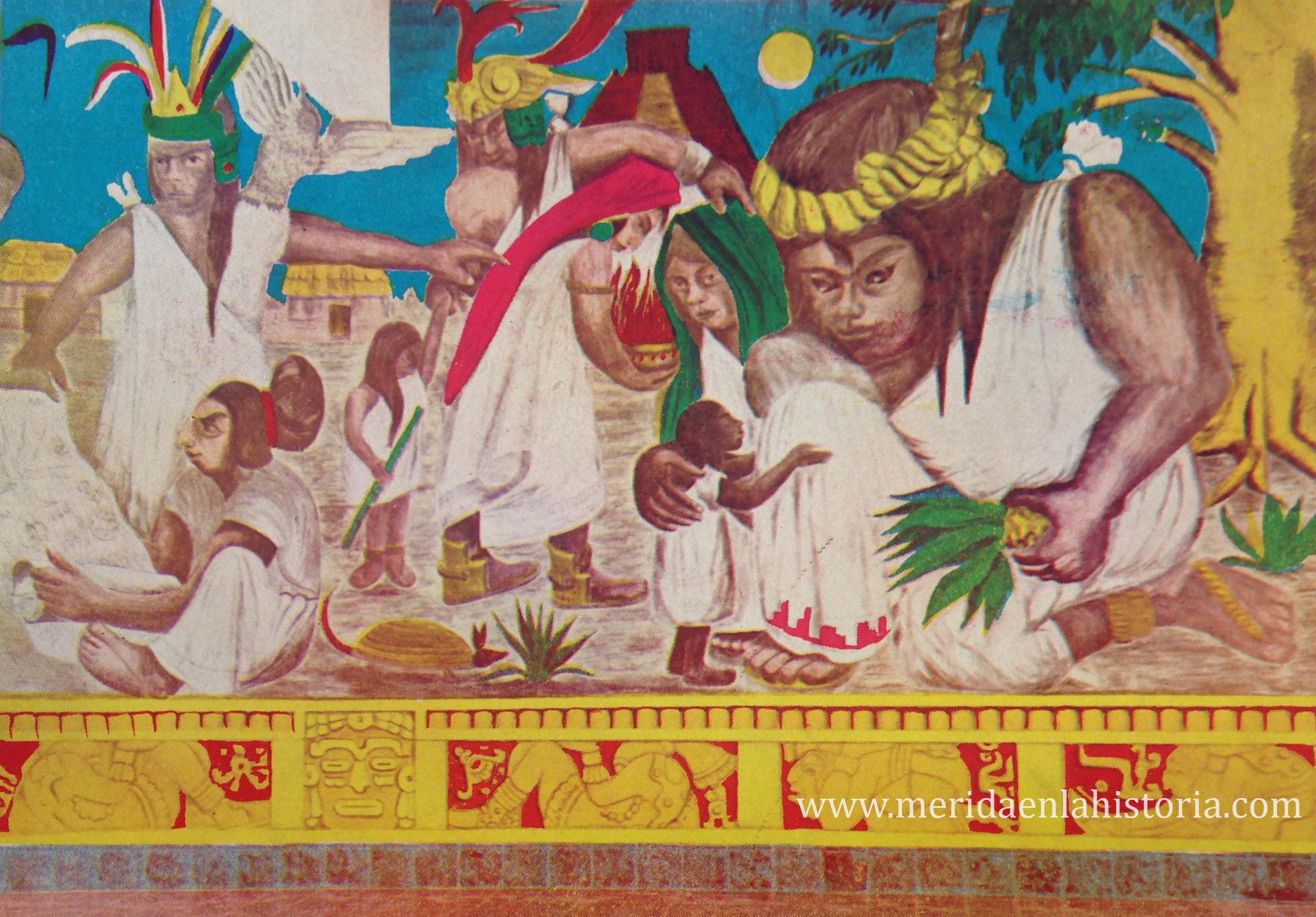 Mural de Manuel Tzab al interior del Centro.