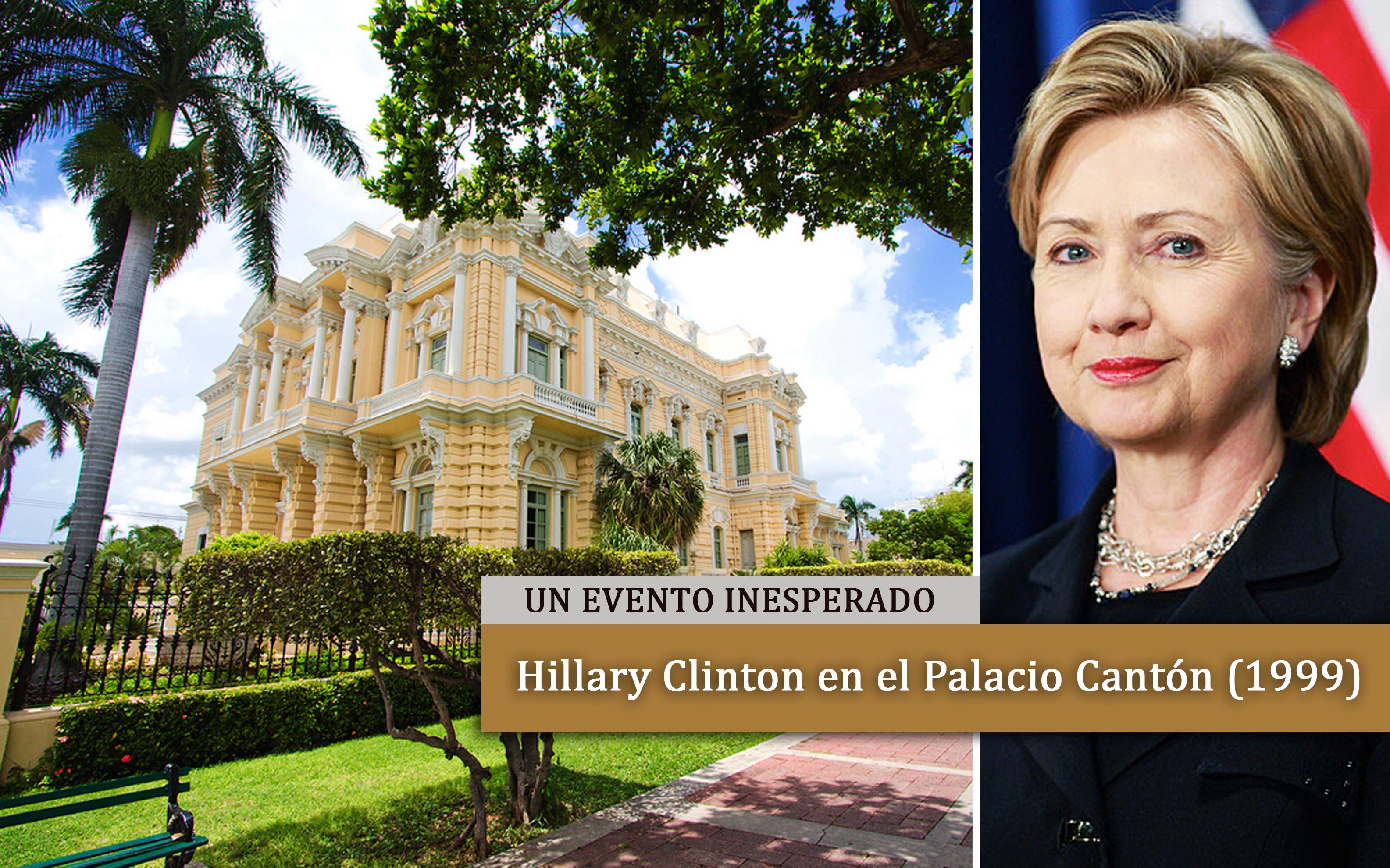 Hillary Clinton visitó el Palacio en 1999.
