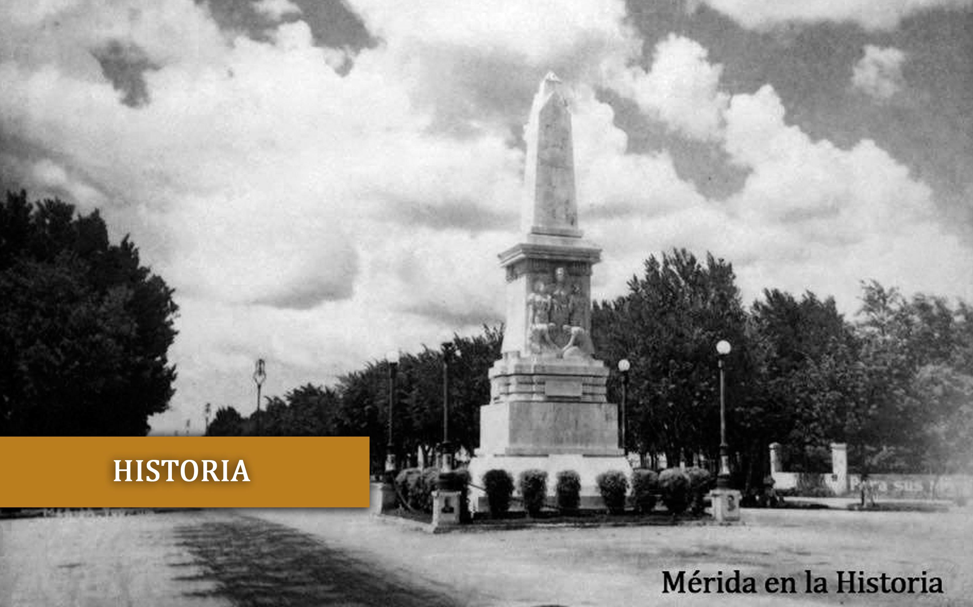 El Monumento a Felipe Carrillo Puerto en los años treinta.