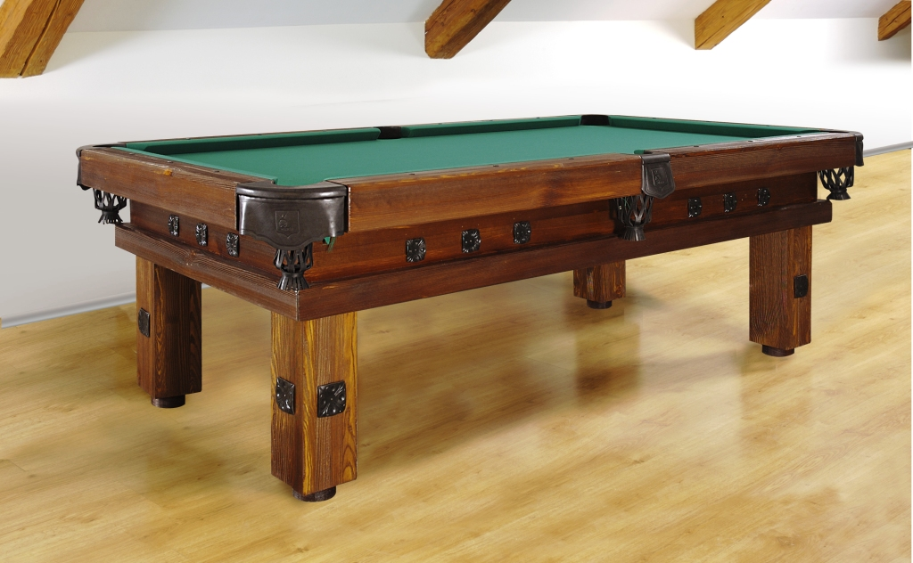 Artemis Rustic Log Hand made pool table by Vision Billiards decor A