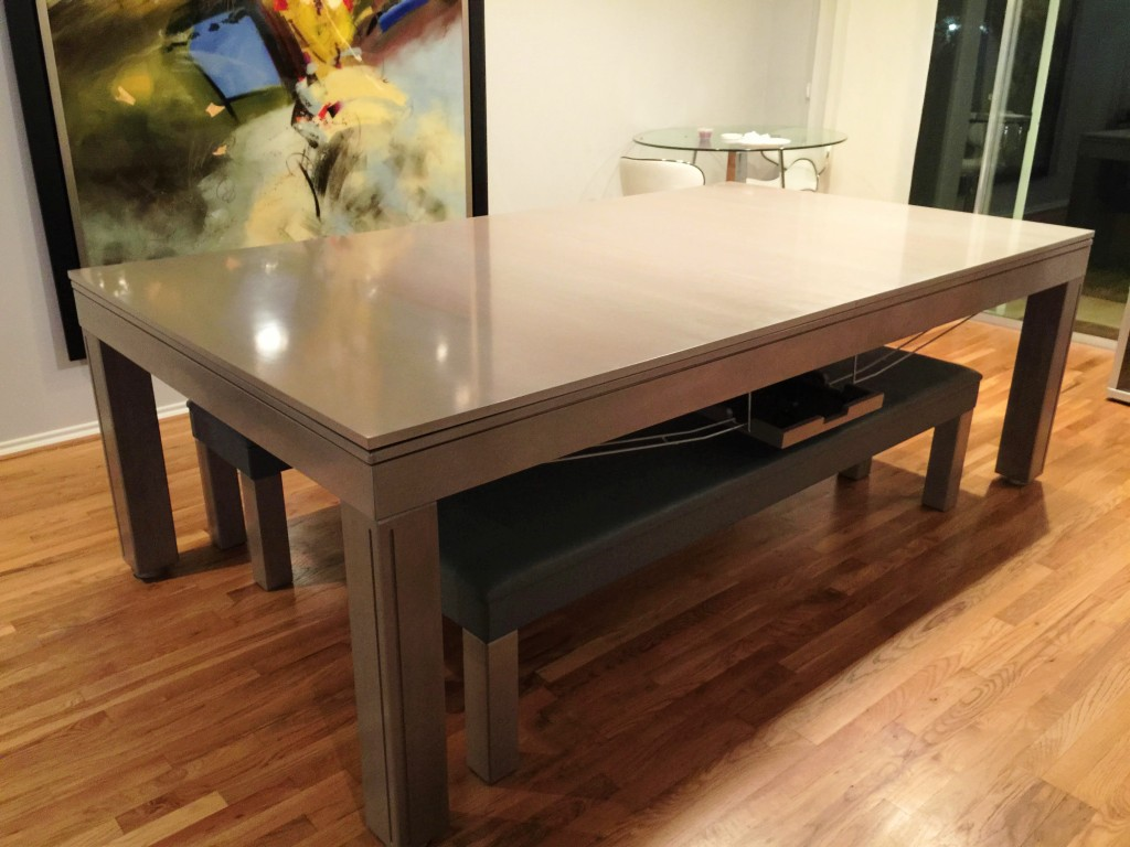 Convertible dining pool fusion table Vision Gray by Vision Billiards