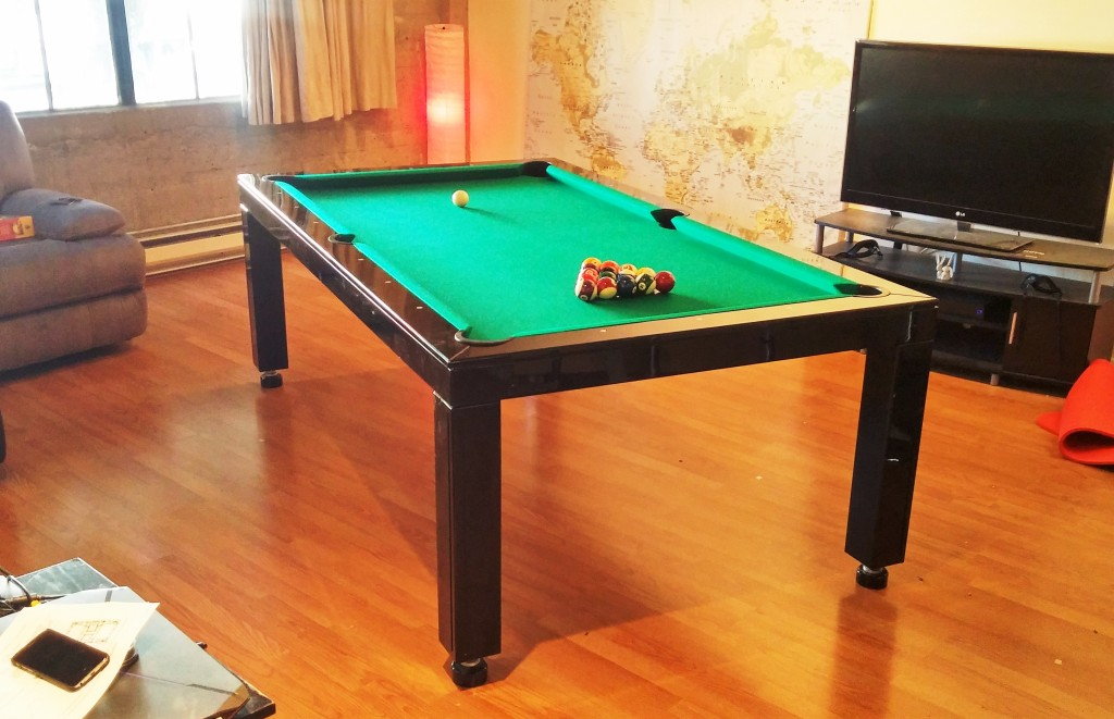 Convertible dining pool fusion table Vision black By Vision Billiards