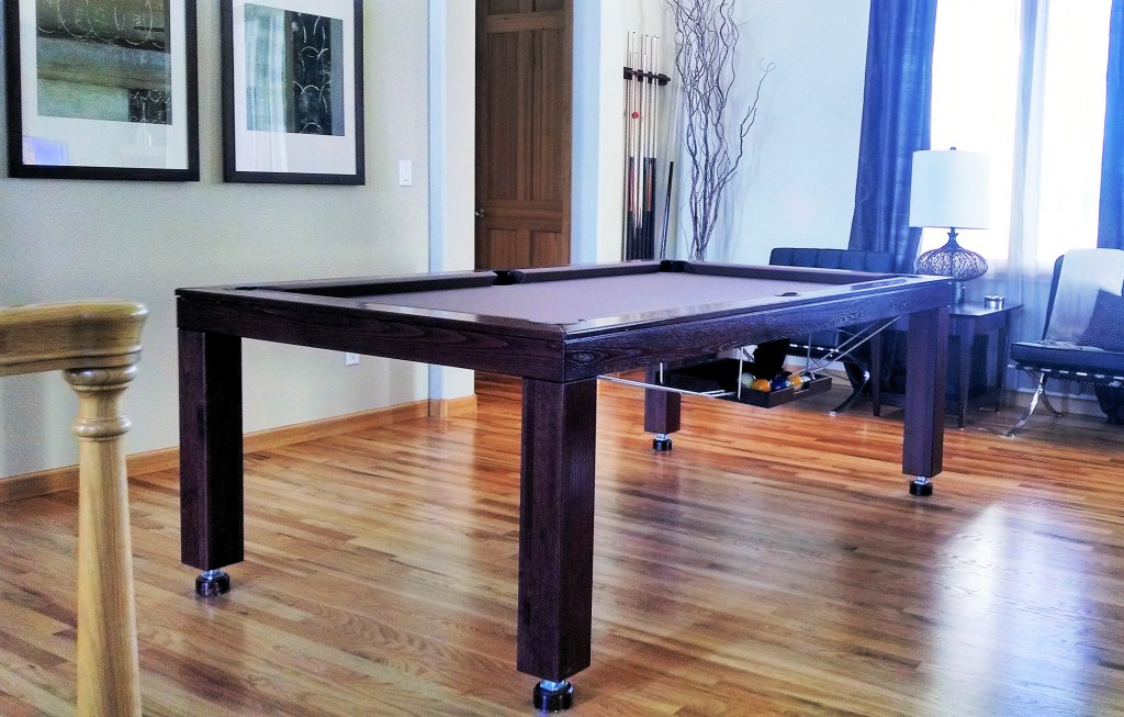 Convertible dining pool fusion table Vision espresso by Vision Billiards