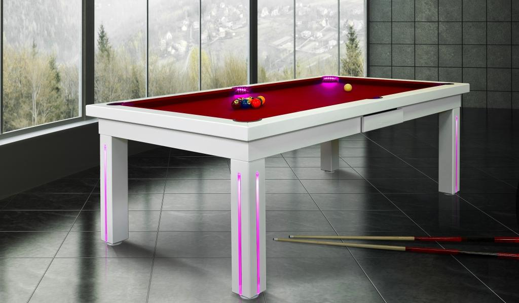 New York convertible dining fusion pool table by Vision Billiards