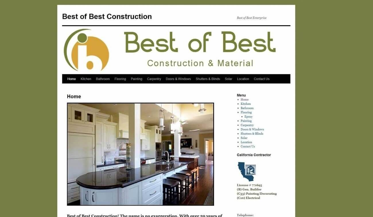 Best of Best Construction old