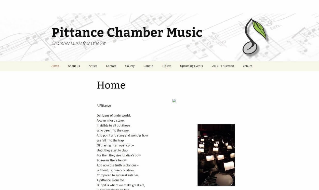 Pittance Chamber Music old