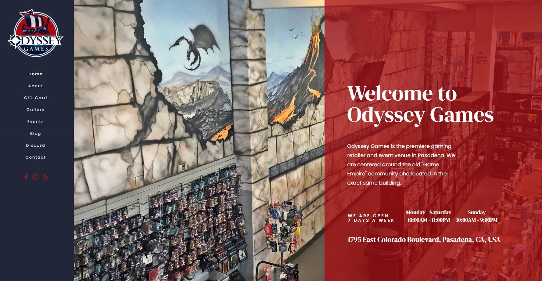 odyssey games website