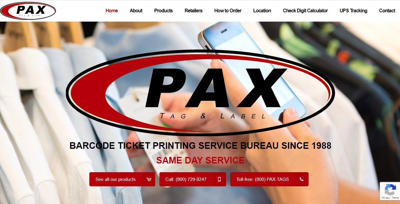 pax tag and label website