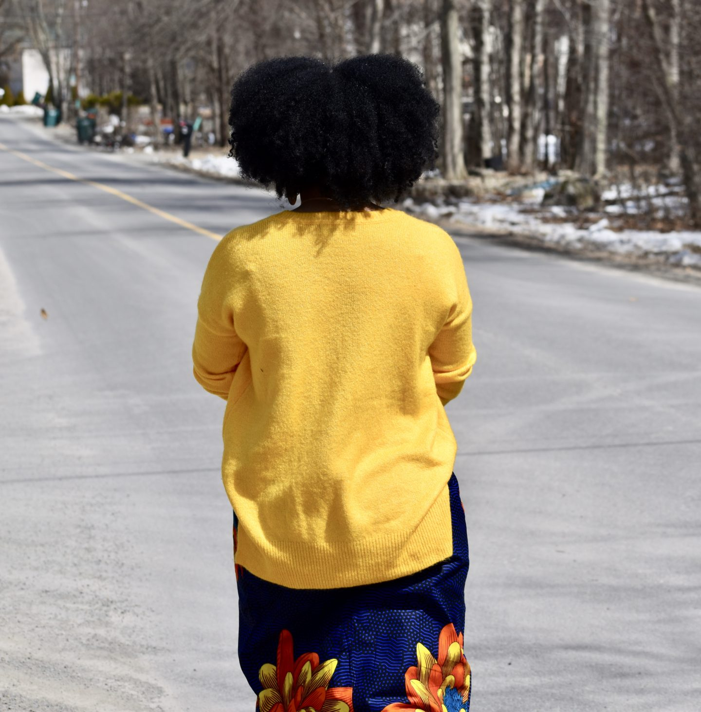 Ankara High-Slit Skirt