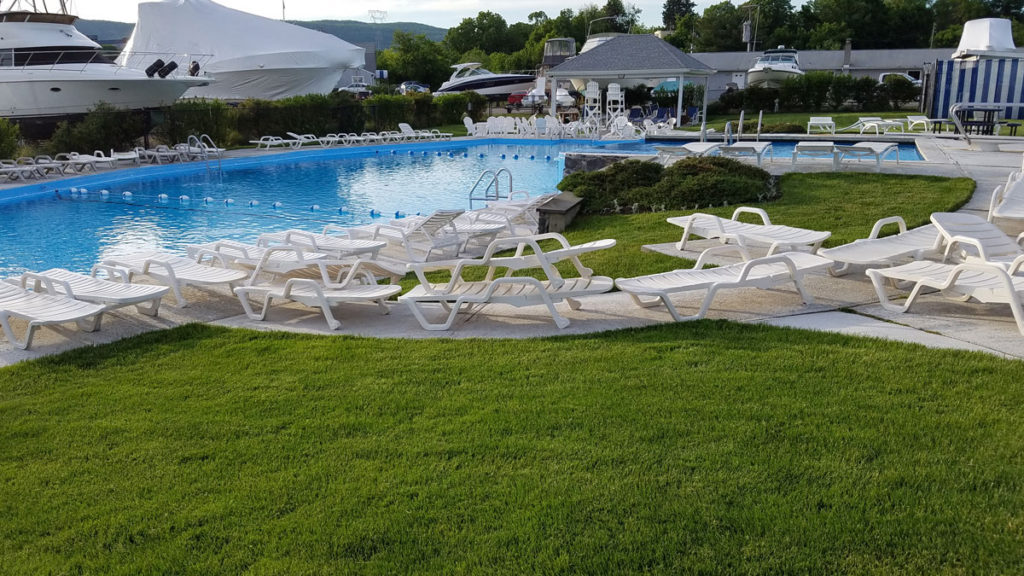 Pool at Cortlandt Yacht Club on the Hudson River