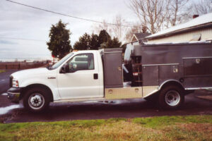 Truck Mounted Powervac with dress up kit and  tool boxes