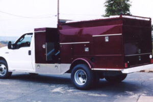 HPV-13EL - Custom colored truck mounted powervacs  available