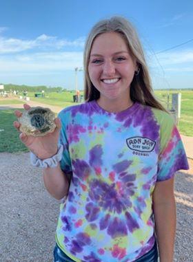 [Arkansas] Katie Pryor broke her first 100 and 200 straight during the Nebraska state Singles Championship.