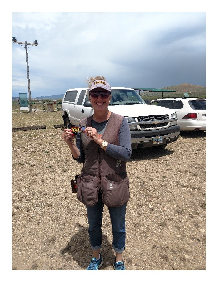 [Wyoming] Kimberly Ideen posted her first 100 straight in July at Overthrust GC.